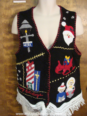 Night of Christmas Eve Ugly Christmas Sweater Vest