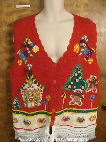 Christmas Sweets Ugly Christmas Jumper Vest