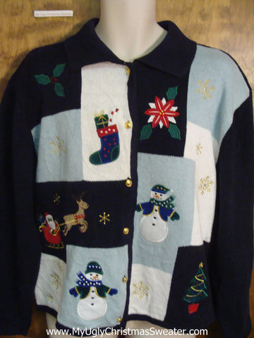 Patchwork Design Ugly Christmas Jumper