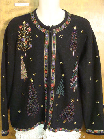 Tree and Stars Ugly Christmas Jumper