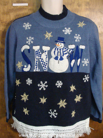 Snow Ugly Christmas Jumper