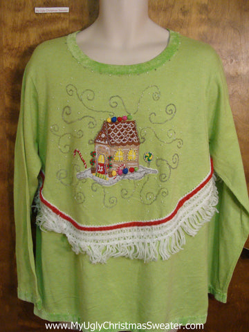 Gingerbread House Ugly Christmas Jumper