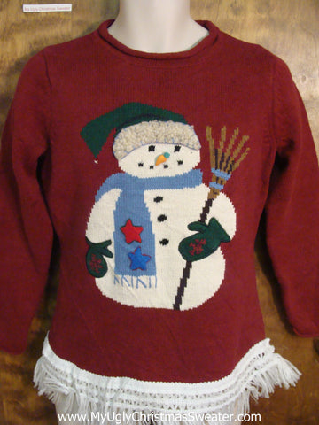 Winter Snowman Ugly Christmas Jumper