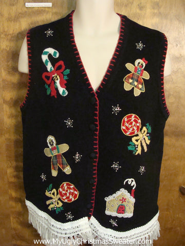 Xmas Sweets Ugly Christmas Jumper Vest