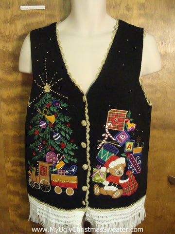 Festive Presents Ugly Christmas Jumper Vest