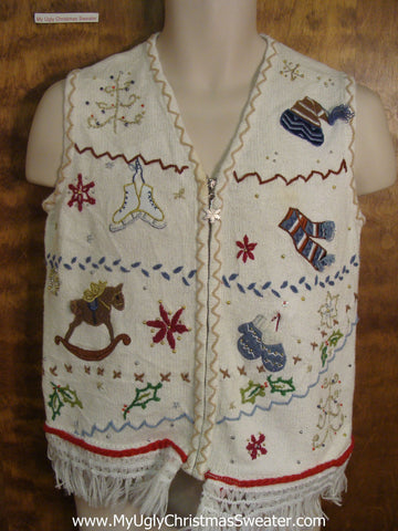 Holiday Decorations Funny Christmas Sweater Vest