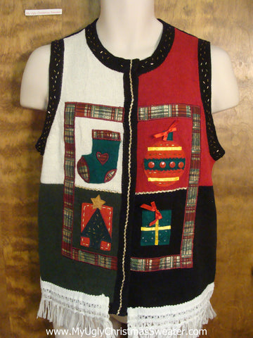 Xmas Favorites Funny Christmas Sweater Vest