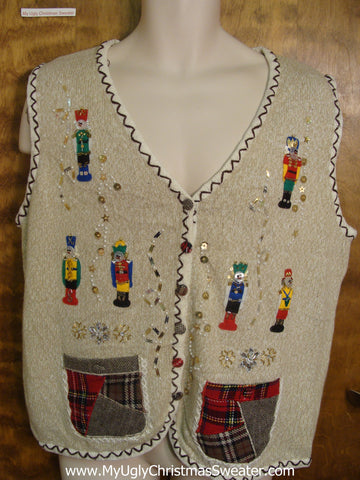 Nutcracker Funny Christmas Sweater Vest
