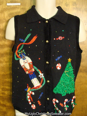 Nutcrackers and Sweets Funny Christmas Sweater Vest