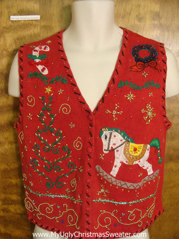 Christmas Tree Surprise Funny Christmas Sweater Vest