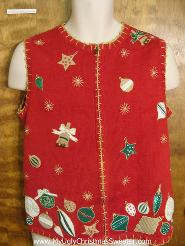 Holiday Ornaments Funny Christmas Sweater Vest
