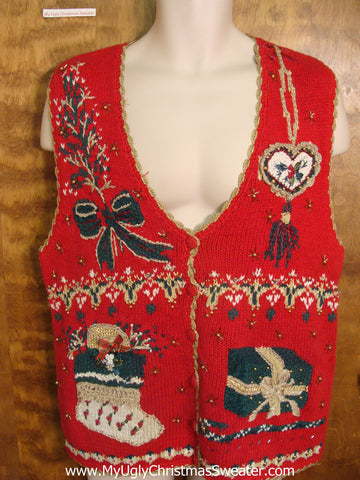 Festive Christmas Eve Funny Christmas Sweater Vest