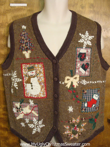 Holiday Festivities Funny Christmas Sweater Vest
