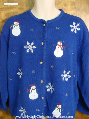 Merry Snowmen Funny Christmas Sweater