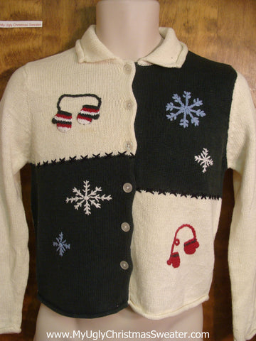 Patchwork Funny Christmas Sweater