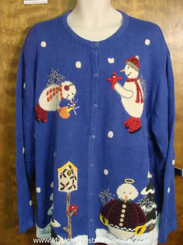 Snowman Angels Bad Christmas Sweater
