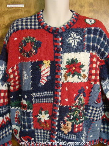80s Holiday Festivities Bad Christmas Sweater