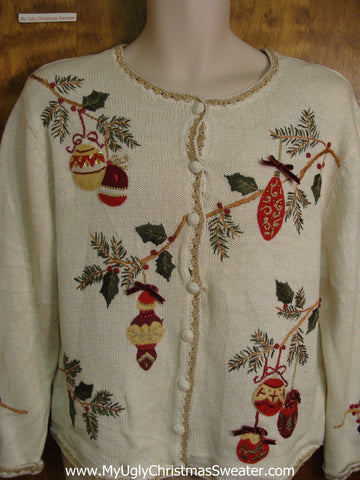 Cheap 80s Hanging Ornaments Bad Christmas Sweater