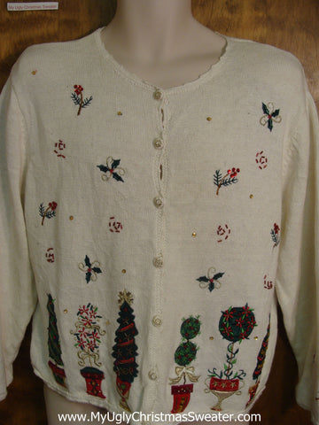 80s Padded Shoulders Bad Christmas Sweater
