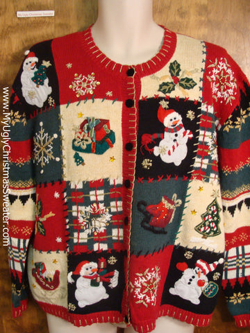 80s Patchwork Bad Christmas Sweater
