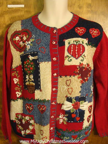 Terrible Patchwork Bad Christmas Sweater