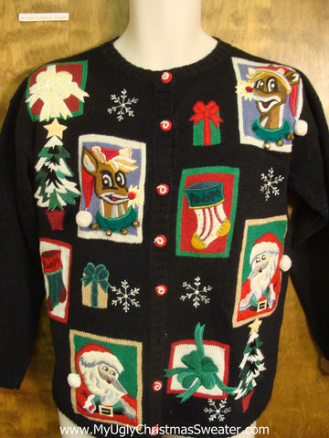 Santa and Friends Bad Christmas Sweater