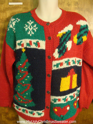 Retro Christmas Night Bad Christmas Sweater