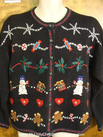 Holiday Favorites Patterned Bad Christmas Sweater