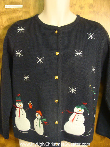 Snowman Family and Friends Bad Christmas Sweater