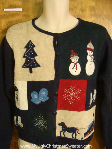 80s Christmas Scene Bad Christmas Sweater