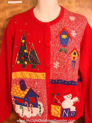 Red Christmas Fun Bad Christmas Sweater
