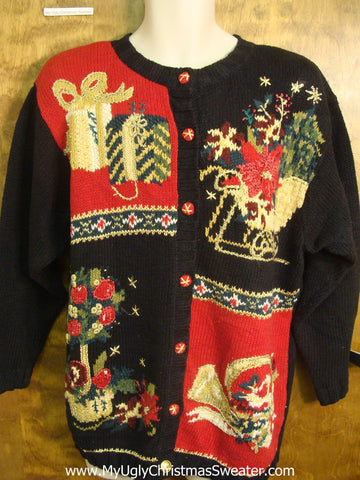 80s Xmas Decorations Bad Christmas Sweater