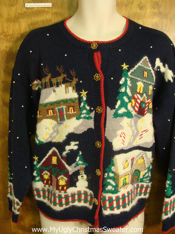 Christmas Eve Town Bad Christmas Sweater