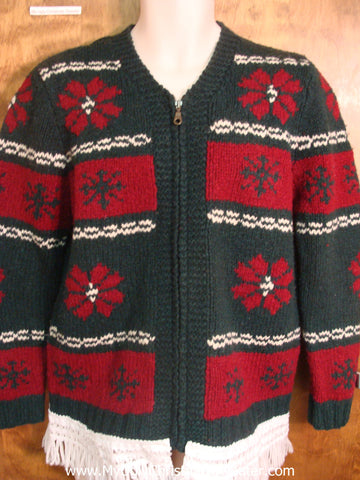 Fun Poinsettias Ugly Xmas Sweater
