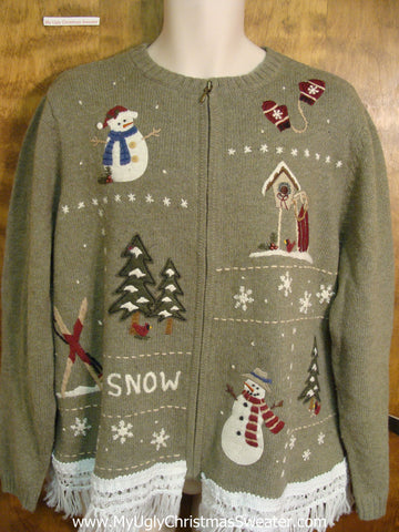 Fun in the Snow Ugly Xmas Sweater