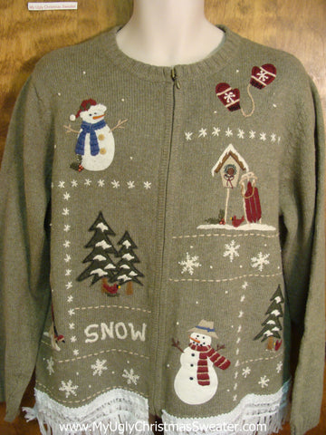 Festive Snow Fun Ugly Xmas Sweater