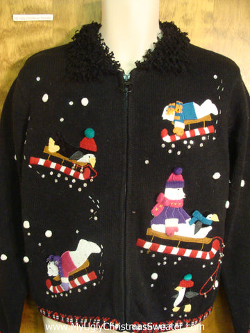Polar Bears and Penguins Ugly Xmas Sweater