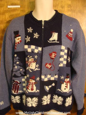 Checker Board Ugly Xmas Sweater