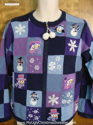 Blue and Purple Ugly Xmas Sweater