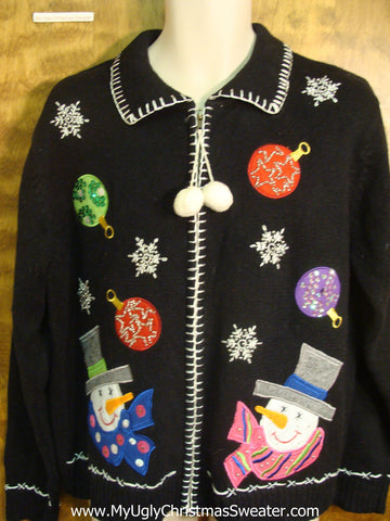 Snowmen and Ornaments Ugly Xmas Sweater