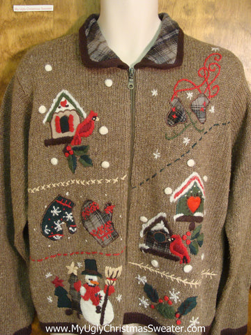 Bird House Ugly Xmas Sweater