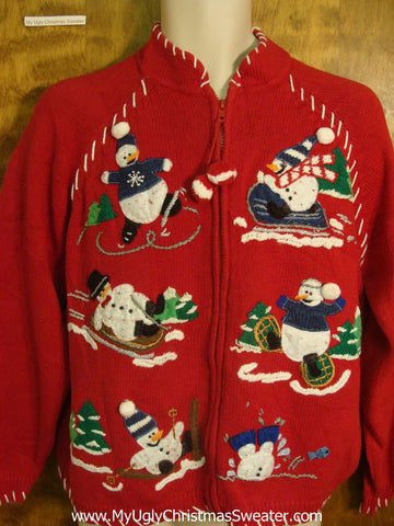 Winter Snowmen Ugly Xmas Sweater