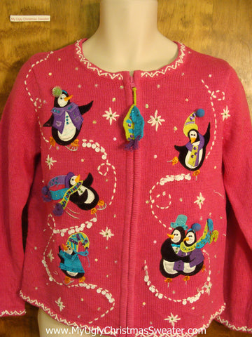 Skating Penguins Ugly Xmas Sweater