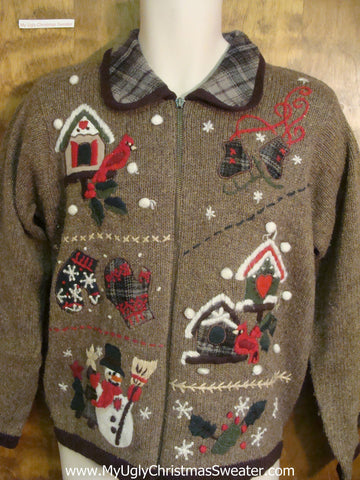Festive Birds and Friends Ugly Xmas Sweater