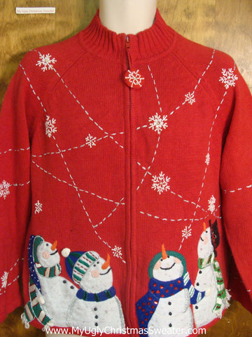 Snowflakes Crossing the Sky Ugly Xmas Sweater