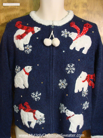 Polar Bears Dressed For Winter Ugly Xmas Sweater
