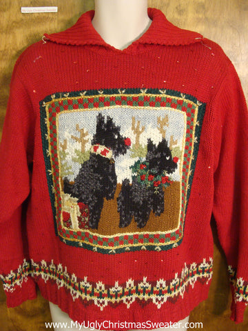 Holiday Westie Dogs Tacky Xmas Sweater