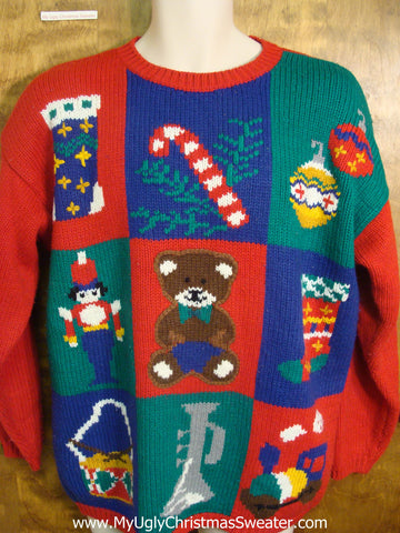 Christmas Toys Tacky Xmas Sweater