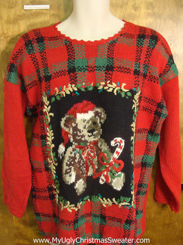 Christmas Teddy Bear Tacky Xmas Sweater