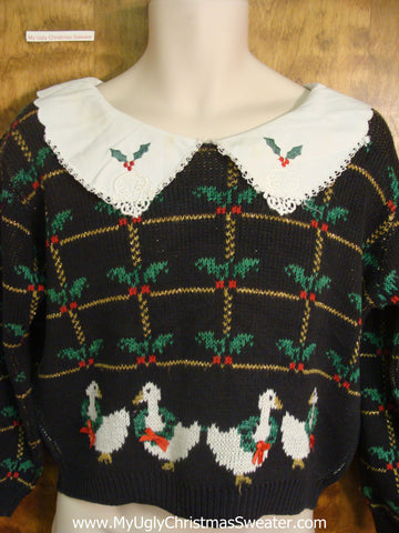 Christmas Geese Cheap Tacky Xmas Sweater
